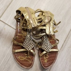 Sam edelman gold gladiator sandals